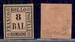 ANTICHI STATI ITALIANI - ROMAGNE - 1859 - 8 Bai (8) - Gomma Originale - Molto Bello - Bolaffi + Diena (380) - Non Classificati