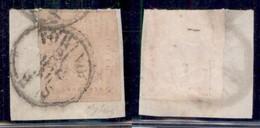 ANTICHI STATI ITALIANI - SARDEGNA - 1853 - 40 Cent Rosa Chiaro (6) Su Frammento - Oliva (1950) - Non Classificati