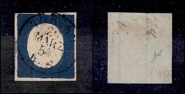 ANTICHI STATI ITALIANI - SARDEGNA - 1854 - 20 Cent Indaco (8c) - Molto Bello - Fiecchi (400) - Non Classificati
