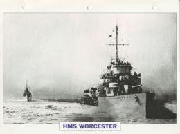 Picture Suitable For Framing - HMS  - Worcester - Destroyer - See Description Very Good - Cartes Postales