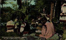 INDIOS // INDIAN. SEMINOLE INDIAN CAMPING GROUND IN THE EVERGLADES. FLORIDA - Indiens De L'Amerique Du Nord