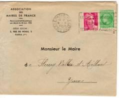 PARIS 117 Flier 'cheques Postaux' (B117211) Marianne Gandon 3f Rose Lilas (806)ceres 2f Vert (680) Tarif Imprimé - Marcophilie (Lettres)