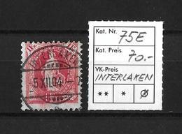 1900-1903 STEHENDE HELVETIA (gezähnt) → Weisses Papier Kontrollzeichen Form B /14 Zähne Senkrecht ►SBK-75E / INTERLAKEN◄ - 1882-1906 Armoiries, Helvetia Debout & UPU