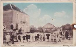 39 : CHAMBERIA : L'école ( Animation - Enfants ) - Colorisée - état Mauvais - Voir Manque Coté Droit - France