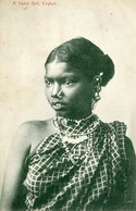 CEYLAN - COLOMBO - A TAMIL GIRL - - Sri Lanka (Ceylon)