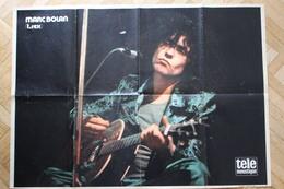 SP4-Rare Poster De Marc Bolan (T.Rex),nom De Scène De Mark Feld, Né1947- Mort 1977 à Barnes.Angleterre/forma 60x43cm - Musique