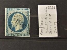 02 - 20 // France N°14 Oblitéré PC 3931 - Conflens St Honorine  - Seine Et Oise  - Indice 13 - 1853-1860 Napoleone III