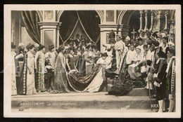 Postkaart / Postcard / CPA / Le Sacre De Napoléon Film Muet REX / 2 Scans / Napoléon Ier / Le Couronnement - Cinema