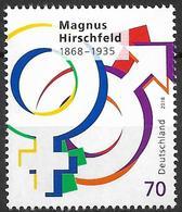2018 Allem. Fed. Deutschland Germany Mi.  3403***MNH  150. Geburtstag Von Magnus Hirschfeld - [7] Repubblica Federale