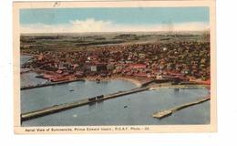 SUMMERSIDE, Prince Edward Island, Canada, Aerial View, 1946 WB PECO Postcard - Ile Du Prince-Édouard