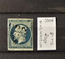 02 - 20 // France N°14 Oblitéré PC 3906 - Wissembach - Vosge   - Indice 18 - 1853-1860 Napoleone III