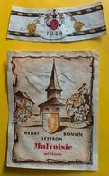 12339 -  Malvoisie 1943 Henri Bonvin Leytron - Etiquetas