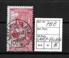 1900 U.P.U. 25 Jahre Weltpostverein → SBK-78B Starke Verzähnung  / Perfekte Erhaltung Stempel LAVEY-VILLAGE  ►RAR◄ - 1882-1906 Armoiries, Helvetia Debout & UPU