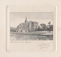 Gravure Hastière Sur Meuse - Estampas & Grabados