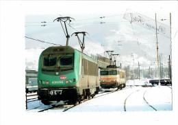 Cpm - 01 - AMBERIEU - Train Locomotive - BB 36055 //   7369 - Le 26 Janvier 2007 - Sncf - - France