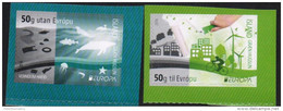 ICELAND , 2016, MNH, EUROPA, THINK GREEN, BICYCLES, WIND ENERGY,WHALES, FISH, SEALS, 2v S/A Ex. BOOKLET - Europa-CEPT