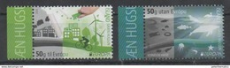 ICELAND , 2016, MNH, EUROPA, THINK GREEN, BICYCLES, WIND ENERGY,WHALES, FISH, SEALS, 2v - Europa-CEPT
