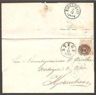 1865. Large Oval Type. 4 Skilling Bright Red. Perf. 13x12½ 68. STEGE 1 12 2 POST. (Michel 13Aa) - JF120537 - 1864-04 (Christian IX)