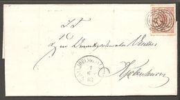 1865. Large Oval Type. 4 Skilling Bright Red. Perf. 13x12½ 48. NYKJØBING I JYLLAND 11... (Michel 13Aa) - JF120544 - 1864-04 (Christian IX)