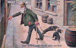 F. Berhard, Humour, Alcool Et Teckel (1016) Usure Des Angles - Autres Illustrateurs