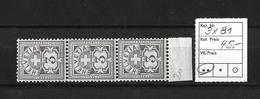 1906  ZIFFERMUSTER → Faserpapier Mit Wasserzeichen    ►SBK-3x81**◄ - 1882-1906 Armoiries, Helvetia Debout & UPU