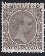 ES223CF-L2571TCO.España.   Spain  .Espagne.ALFONSO Xlll .1901/5.(Ed 223*) Con Charnela. MAGNIFICO - Nuevos