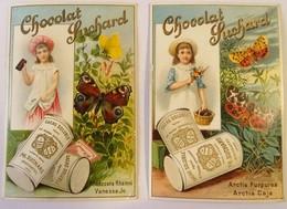 2 CHROMO --CHOCOLAT SUCHARD.-FILLETTE ET PAPILLONS. - Suchard