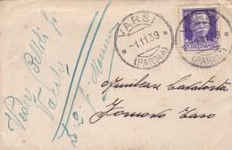 BUSTA VIAGGIATA  - REGNO - VARSI ( PARMA ) - VIAGGIATA PER FORNOVO TARO ( PARMA) - Storia Postale