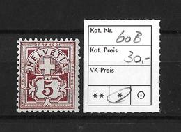 1894-1899 ZIFFERMUSTER → Faserpapier Kontrollzeichen Form B    ►SBK-60B*◄ - 1882-1906 Armoiries, Helvetia Debout & UPU
