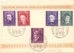 DEUTSCHE REICH  POSTMARK KRAKAU 1942 SPECIAL SERIES FDC  (FEB201292) - Deutschland
