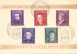 DEUTSCHE REICH  POSTMARK KRAKAU 1942 SPECIAL SERIES FDC  (FEB201293) - Deutschland