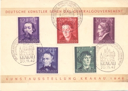 DEUTSCHE REICH  POSTMARK KRAKAU 1942 SPECIAL SERIES FDC  (FEB201293) - Germany