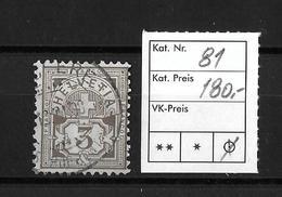 1906 ZIFFERMUSTER → Faserpapier Mit Wasserzeichen     ►SBK-81◄ - 1882-1906 Armoiries, Helvetia Debout & UPU