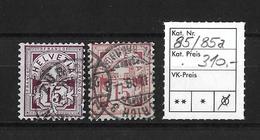 1906 ZIFFERMUSTER → Faserpapier Mit Wasserzeichen     ►SBK-85 Und 85a◄ - 1882-1906 Armoiries, Helvetia Debout & UPU