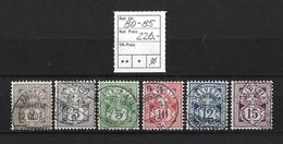 1906 ZIFFERMUSTER → Faserpapier Mit Wasserzeichen     ►SBK-80 Bis 85◄ - 1882-1906 Armoiries, Helvetia Debout & UPU