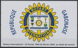 Gabon Gabun 2005 Mi. Bl. 128 Rotary International Un Siècle De Service Block Bloc RARE ! - Rotary, Lions Club