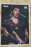 SP-7 / Rare Poster De Wings, Est Un Groupe De Rock Britannique Fondé En 1971 Par Paul McCartney / Forma 60x43cm - Musique