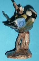 Rare Statuette Vintage En Céramique/porcelaine émaillée, Mésange Bleue, GOEBEL Germany Allemagne - Céramiques
