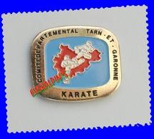 Pin's Comité De Karaté Du Département Du TARN Et GARONNE, Fédération Française De Karaté - Judo