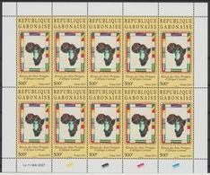 Gabon Gabun 2007 Mi. 1684 Kleinbogen Réseau Des Aires Protégées D'Afrique Centrale Map Karte Carte Drapeaux Flags RARE ! - Geografia