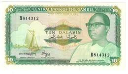 GAMBIA10DALASIS1987P10AUNCSign. 9 - 10B.CV. - Gambia