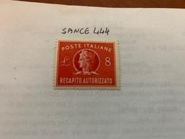 Italy Recapito Autorizzato 8L Mnh 1947 - 6. 1946-.. Republic