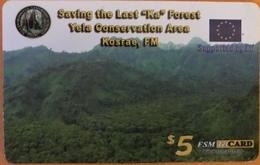 """MICRONESIE  -  Prepaid  -  """" FSMTelCARD  """"  - Saving The Last Ka Forest  -   $5 - Micronésie"""