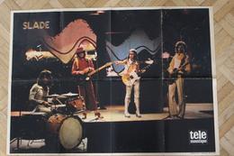 SP-8 / Rare Poster De Slade,est Ungroupedeglam Rockbritannique, Originaire DeWalsalletWolverhampt /forma 60x43cm - Musique