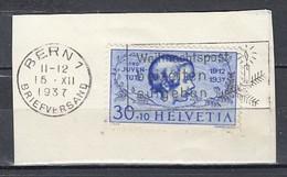 Mi 317 Sur Piece De Lettre Bern - 15 DEC 1937 - Schweiz