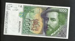 ESPANA / SPAIN / SPAGNA - BANCO De ESPANA - 1000 PESETAS (1992) - H. CORTES - [ 4] 1975-… : Juan Carlos I
