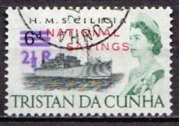 Tristan Da Cunha Used Revalued And Original Stamp - Ships