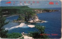 """MICRONESIE  -  Phonecard  - """" Tamura """" - Bird Island Saipan  -  Mtc 25 - Micronésie"""
