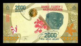 Madagascar 2000 Ariary 2017 Pick 101 SC UNC - Madagascar