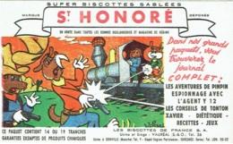Buvard. Biscottes St.Honoré. Vauréal. - Alimentaire